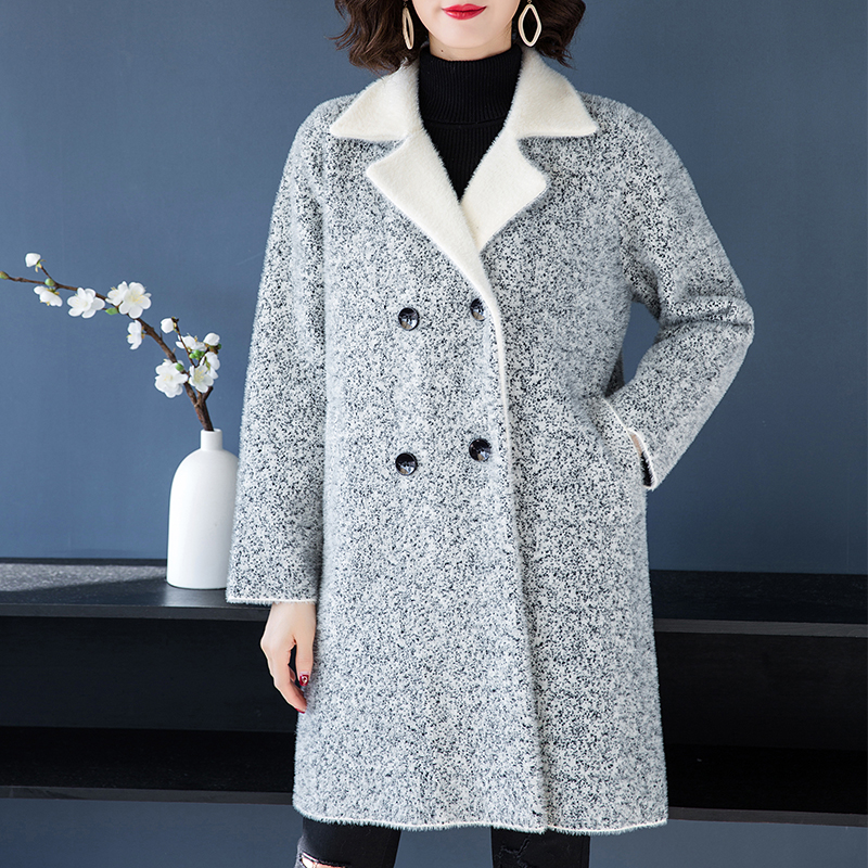 2018 mink fur coat embellished shirt jacket mink jacket women's mink coat women's slim jacket ladies winter warm jacket - 2
