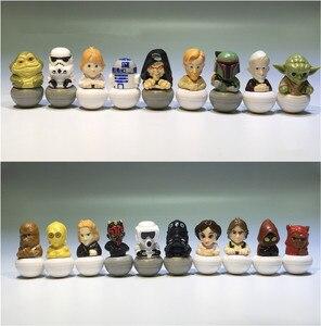 Image 1 - 15 штук, смешанный 3,5 см, Звездные войны, ПВХ, фигурка, игрушки, Очаровательная Коллекционная модель