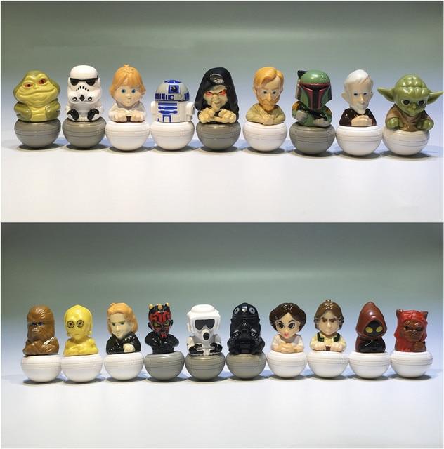 15 штук, смешанный 3,5 см, Звездные войны, ПВХ, фигурка, игрушки, Очаровательная Коллекционная модель