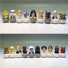 Figuras de acción de Star Wars, modelo de juguete Adorable coleccionable en PVC de 3,5 cm, 15 piezas mixtas