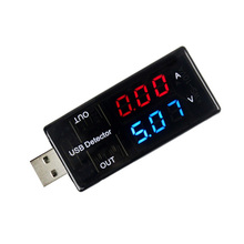 USB Charger Detector Current Voltage Power Tester Dual Digital Display Volt Amp Meter For Android Phone And iPhones Q9 J ce 69 dual led display usb power charger data transmit current voltage tester