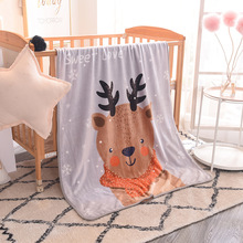 2018 100*140cm Animal cartoon coral velvet soft Baby Blanket Flannel Swaddle blanket Newborn Swaddling Battaniye Bebek