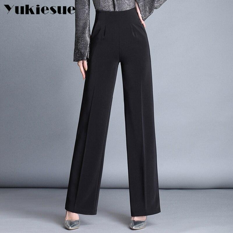 Wide     leg     pants   capris women 2018 summer spring OL formal loose casual   pants   womens trousers female Plus size pantalon femme