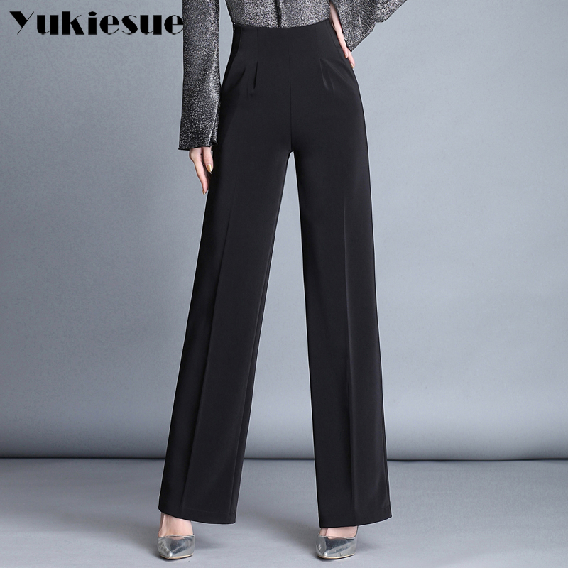 Wide leg   pants     capris   women 2018 summer spring OL formal loose casual   pants   womens trousers female Plus size pantalon femme