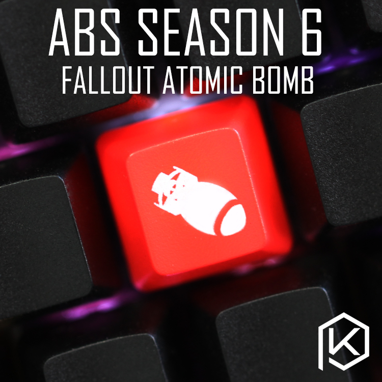 Novelty Shine Through Keycaps ABS Etched, Shine-Through Fallout4 Atomic Bomb R4 Esc F Function Custom Mechanical Keyboard