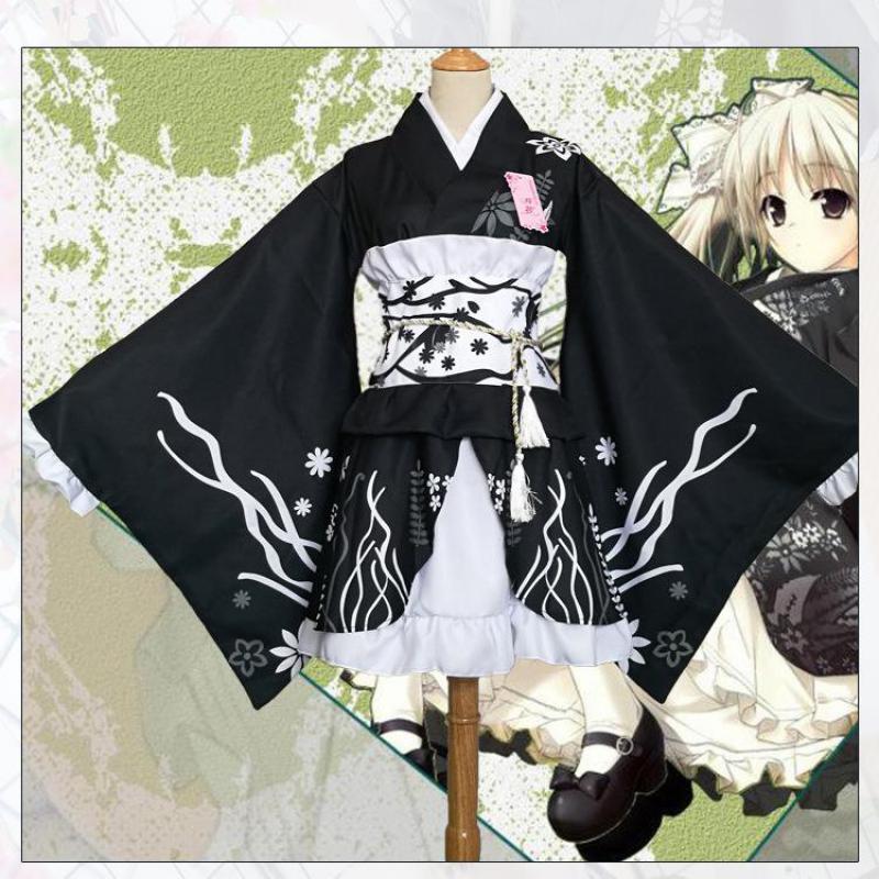 Japanese Style Women Kimono Elegant Print Flower Stage Performance Costume Vintage Original Tradition Yukata Dress Cosplay Robe