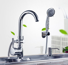 Высокое качество горячей и холодной воды двойной выход кухонный смеситель кран