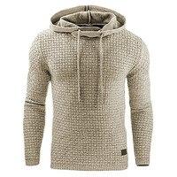 Hoodies Men 2017 Brand Male Long Sleeve Solid Color Hooded Sweatshirt Mens Hoodie Tracksuit Sweat Coat