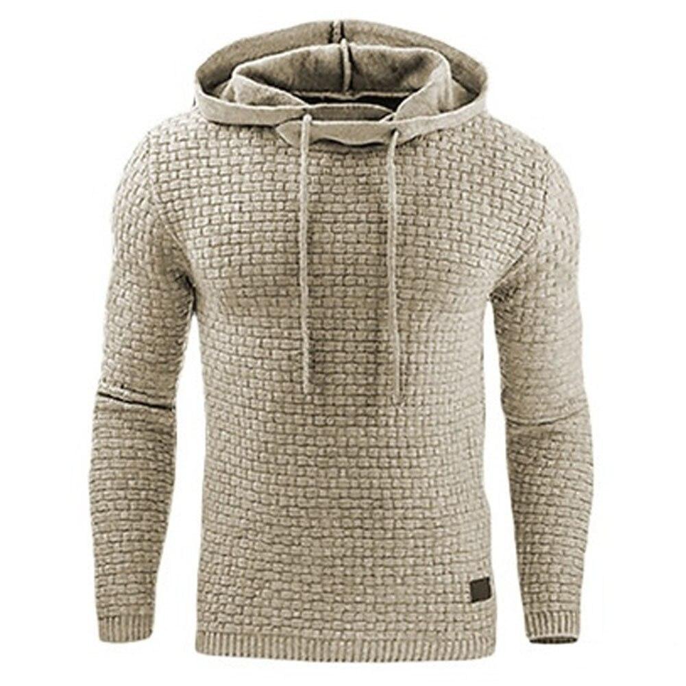 Hoodies Men 2017 Brand Male Long Sleeve Solid Color Hooded Sweatshirt Mens Hoodie Tracksuit Sweat Coat Casual Sportswear S-4XL