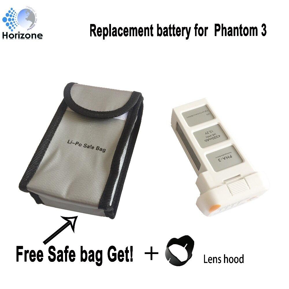 HORIZONE 4500mAh LiPo Intelligent Battery for DJI Phantom 3 SE  Phantom 3 Advanced,  DJI Phantom 3 battery аккумулятор dji battery lipo 15 2v 4480 mah 4s for phantom 3