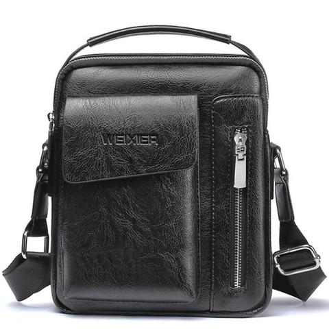 Casual Men Shoulder Bag Vintage Crossbody Bags High Quality Male Bag Leather Handbag Men Messenger Bags WBS510-2 Lahore