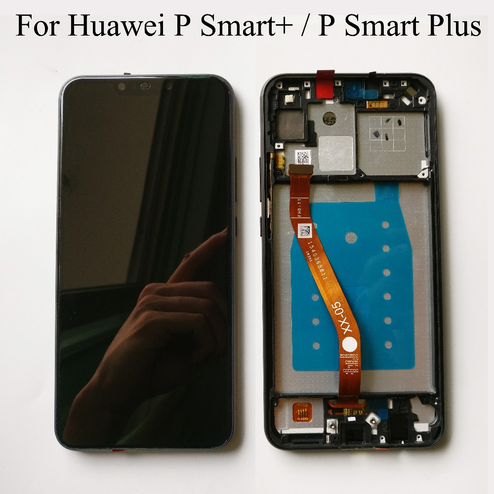 Black/Blue For Huawei P Smart / P Smart Plus INE-LX1 INE-L21 LCD DIsplay  Touch Screen Digitizer Assembly With Frame Free Tools