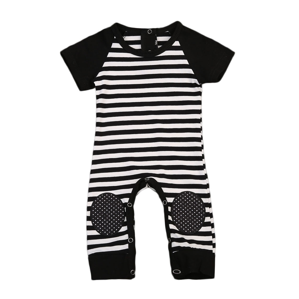2017 Babies Boy Stripes Knee-Protective Rompers Newborn Infant Baby Boy Girl Romper Playsuit Outfits Striped Clothes Clothing gentlemen style striped baby boy romper playsuit