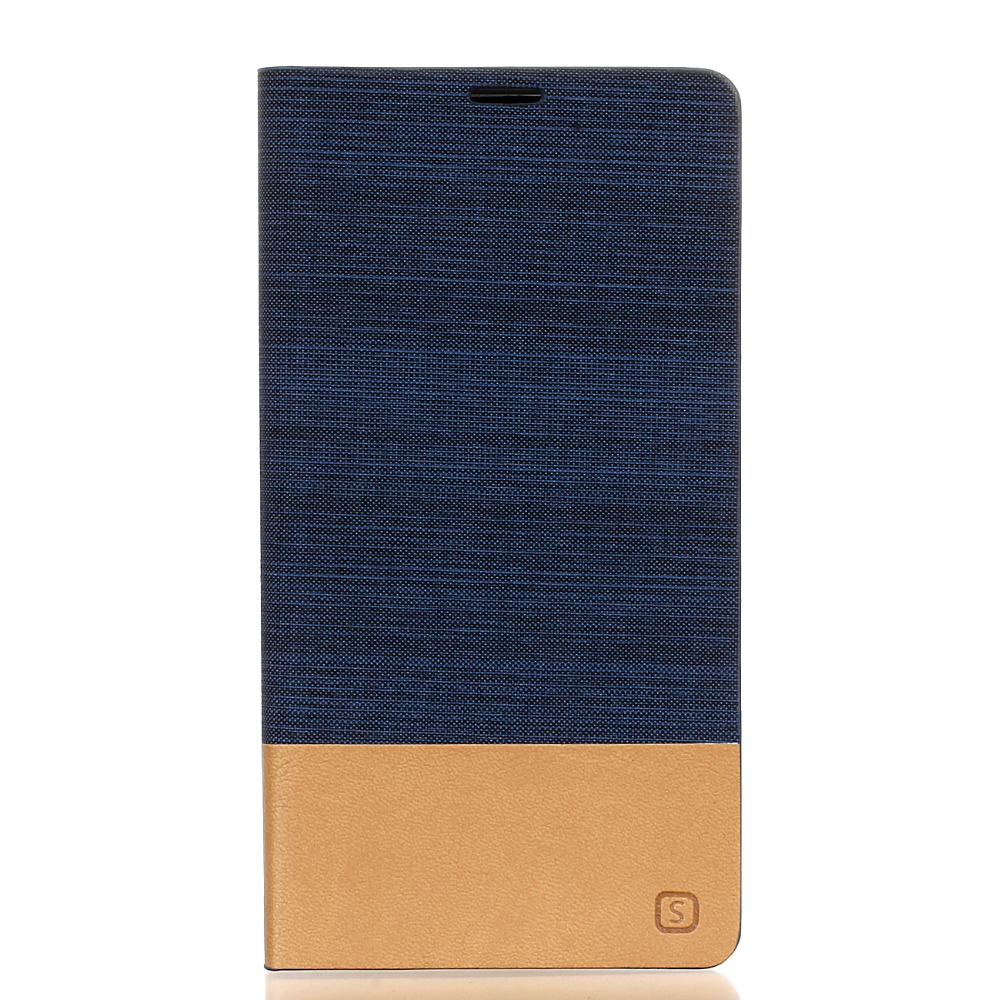 50pcs HYYGEDeal Phone cases Canvas Hit Color Flip Wallet ID Card Stand Leather Cover for Sony Xperia C4 C5 C6