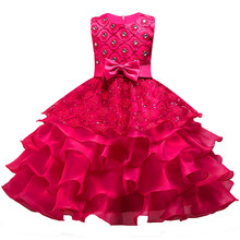 174cd5fd0356e Berngi fleur filles robe princesse mariage Pageant diamant robe à  paillettes dentelle robes de soirée couches fleur fille vêteme.