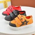 2017 crianças casual estrela de cinco pontas-primeira caminhada shoes moda kids shoes meninos meninas pu shoes 3 cores do bebê shoes 21-25