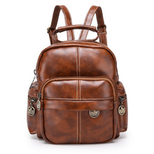 HUIMENG PU Leather Backpacks for Adolescent Girls Zipper Bac