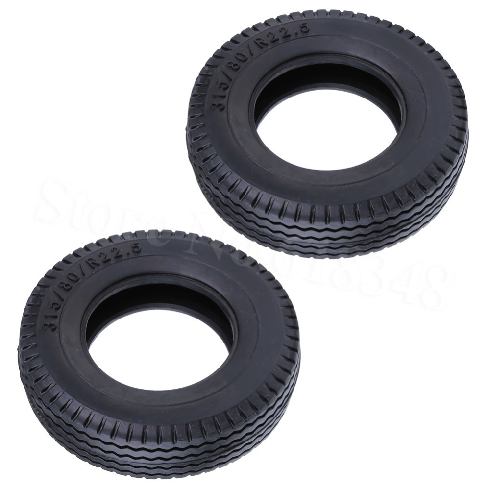 2-Pack 84mm Hobbypark Rubber Tires for 1//14 Scale RC Trailer Car Container Trailer Tractor Truck