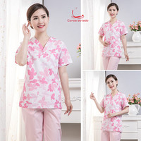 Surgical clothes hand washing clothes beauty salon oral hospital nurses wear short sleeved work clothes in summer