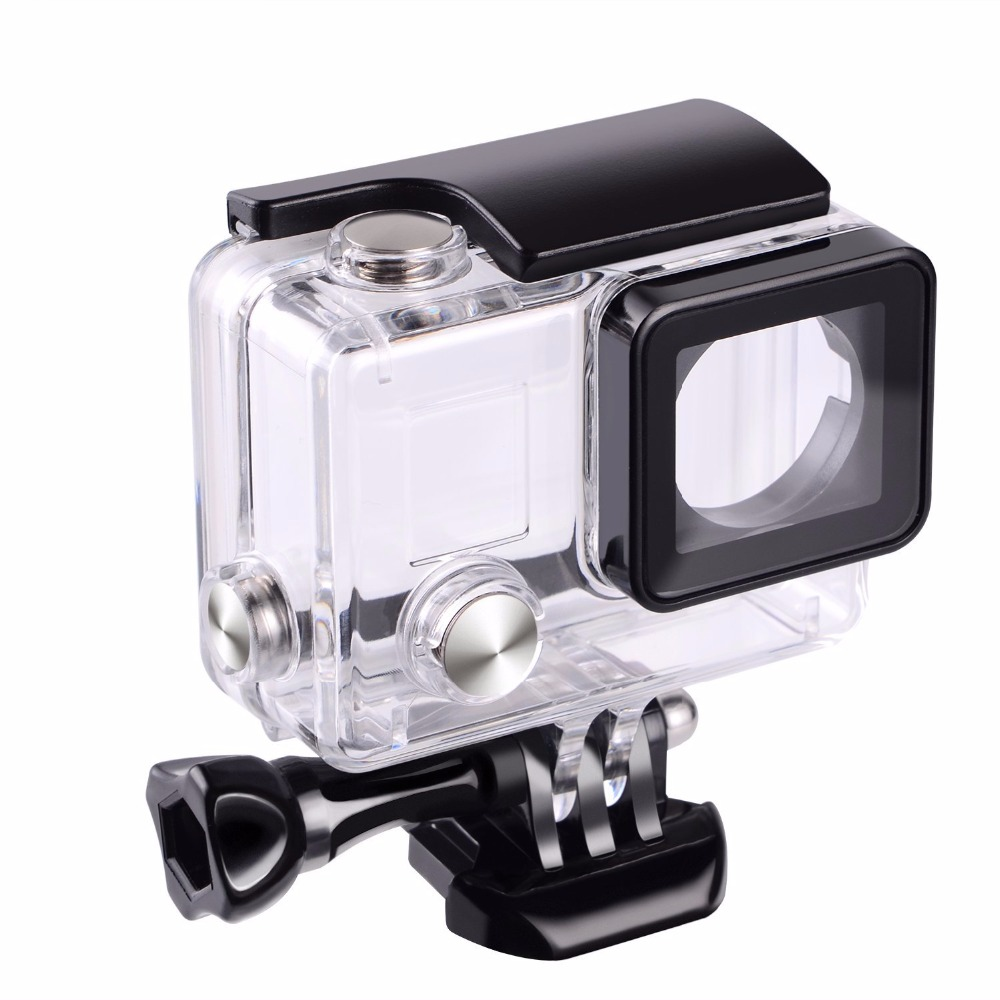 Suptig For Gopro Waterproof Housing Case For Gopro hero 4 Hero3+Hero 3 Underwater Protective Box For Go pro Accessories side open skeleton housing protective case cover mount for gopro hero 4 3 new z09 drop ship