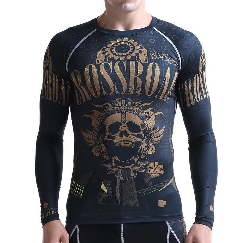 Мужские компрессионные рубашки LIFE ON TRACK с длинным рукавом для бега, гибкие рубашки для тренировок, многофункциональные футболки MMA для занят... - 3
