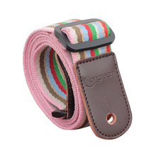 Longteam cotton + leather uukiri shoulder strap with tail nail and Tied rope length 80cm -140cm width 4cm Light rainbow