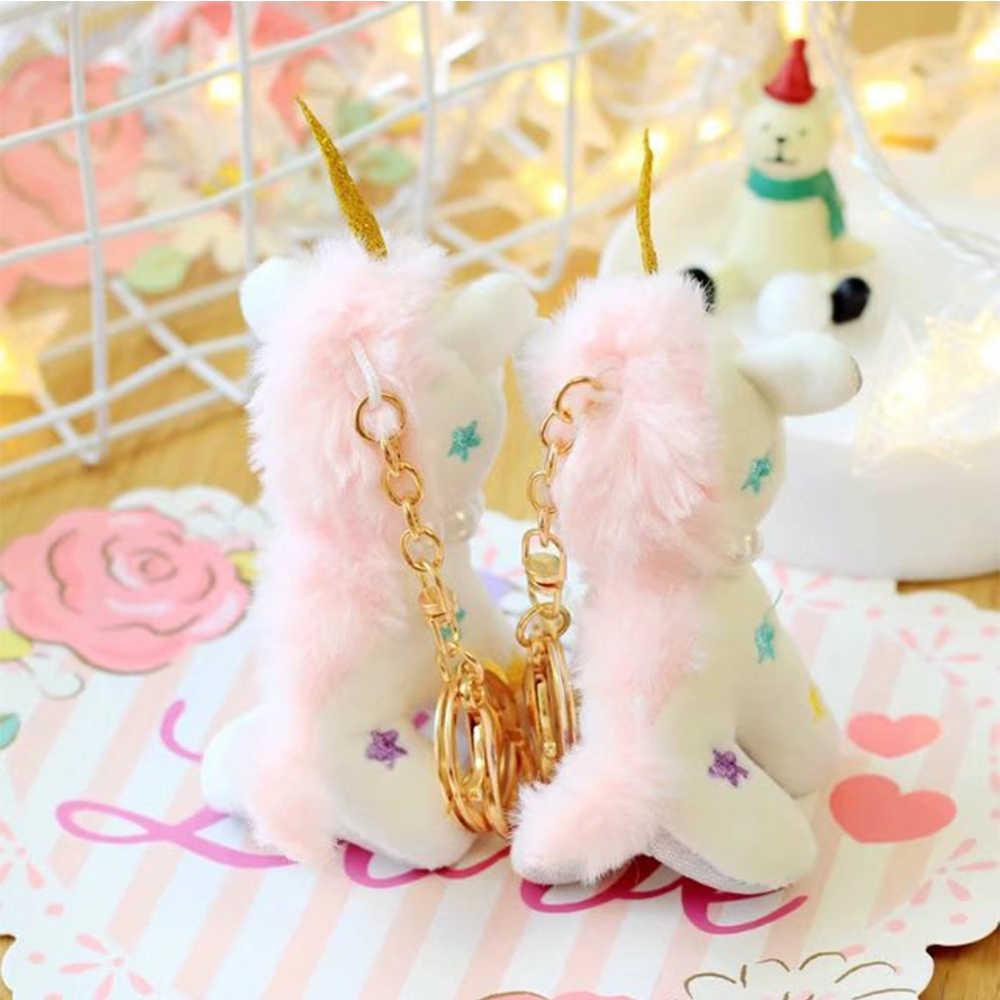 Os mais recentes Chegadas Dreamy Unicorn Cavalo Dos Desenhos Animados sorte Keychain Chaveiro Pingente Charme Bag Cor quente pudcoco Lindo Pingente Pequeno