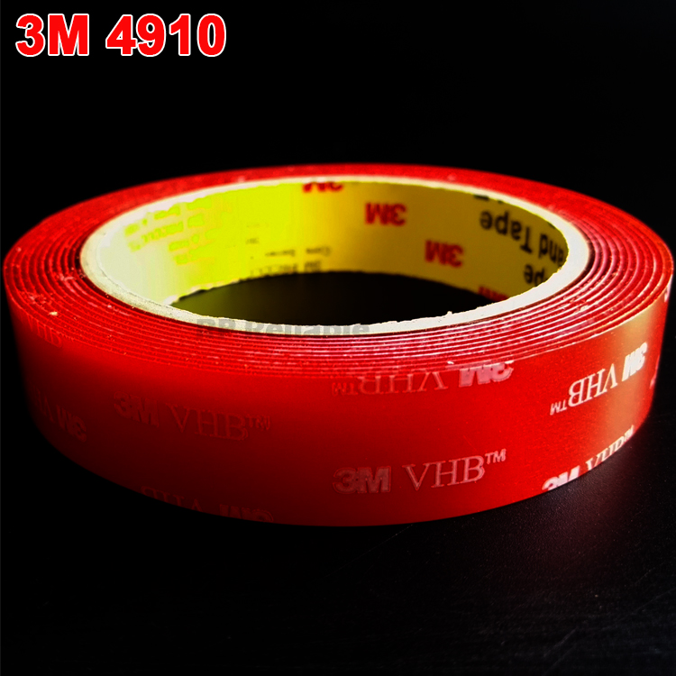 1 Roll 25mm X 3Meters Clear 3M VHB 4910 Heavy Duty Double Sided Adhesive Acrylic Foam  For High Surface Energy Substrates
