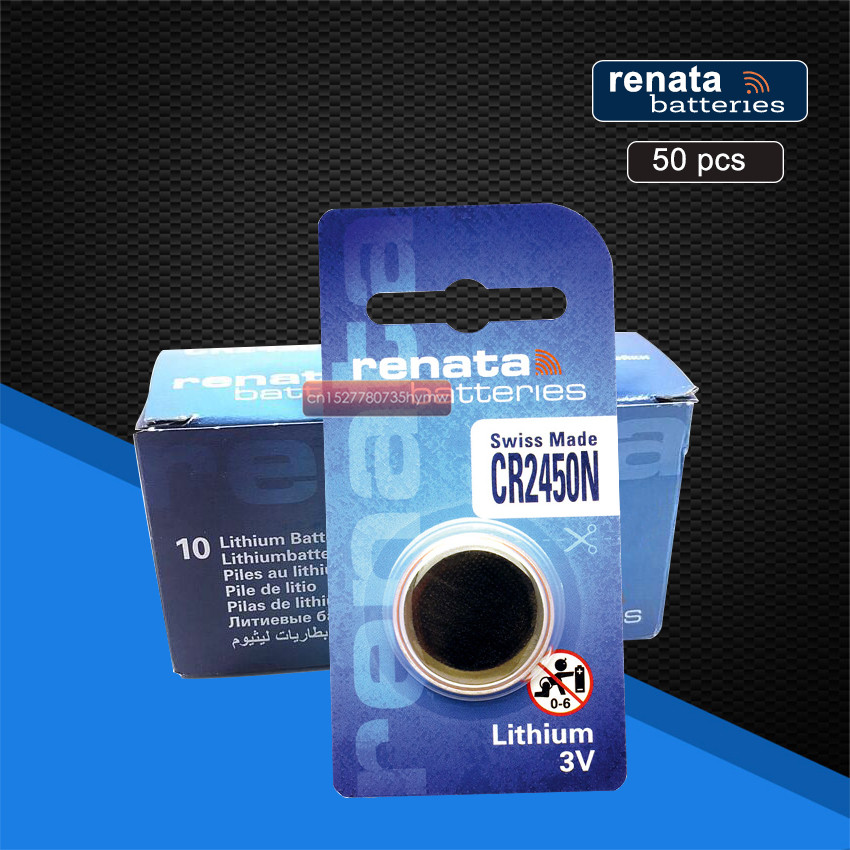 50pc New Original Renata CR2450 CR 2450 3V Lithium Button Cell <font><b>Battery</b></font> Coin <font><b>Batteries</b></font> For Watches,clocks,hearing aids image