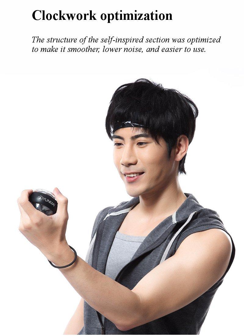 Xiaomi mijia yunmai Wrist Trainer LED Gyroball Essential Spinner Gyroscopic Forearm Exerciser Gyro Ball for Mijia mi home kits # (7)