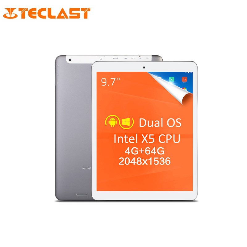 Teclast X98 Plus II 9.7 IPS Retina 2048*1536 Dual Boot Windows 10 + Android 5.1 Intel Z8350 Quad Core 4G RAM 64G ROM Tablet PC vido w8c intel z3735f quad core 1 3ghz 8 inch ips dual boot tablet