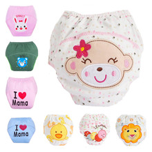 Baby learning pants waterproof panties 100% baby cotton training pants embroidery baby diaper trousers