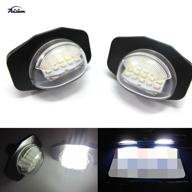 2pcs Direct Fit Led Number License Plate Lamps Light For