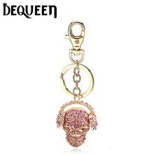 Evil Skull Rhinestone Keyring Charm Pendant Purse Bag Key Ring Chain Keychain Gift