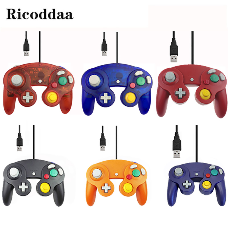 For Gamecube Controller USB Wired Handheld Joystick For Nintend For NGC GC Controle For MAC Computer PC Gamepad Mando Accessory