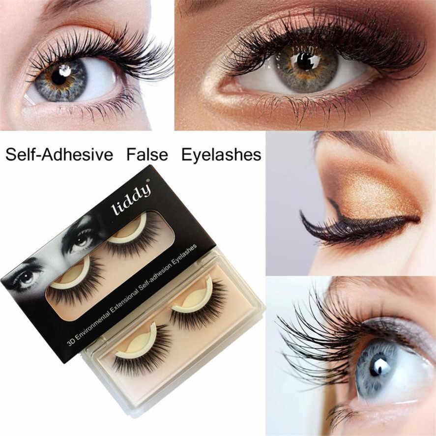 e84c643080d Detail Feedback Questions about New liddy 1Pair Handmade Natural Long Thick  Soft Self Adhesive False Eyelashes Daily Makeup Fake Eyelash Pretty on ...