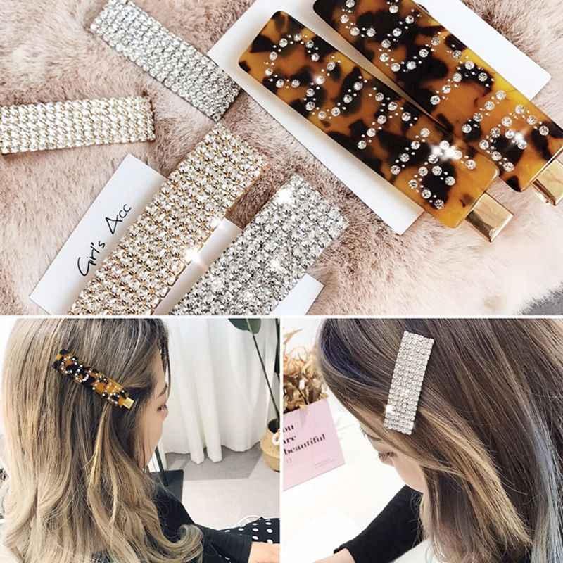Модный Роскошный, Кристальный, со стразами заколки для волос Леопардовый цвет, акриловый аксессуар для волос для женщин с надписью