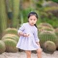 Дети Девушки цветочные платья 2-8 Т Одуванчик 2016 лето с длинным рукавом модный бренд дети девочки цветочные платья для девушки цветочные платья