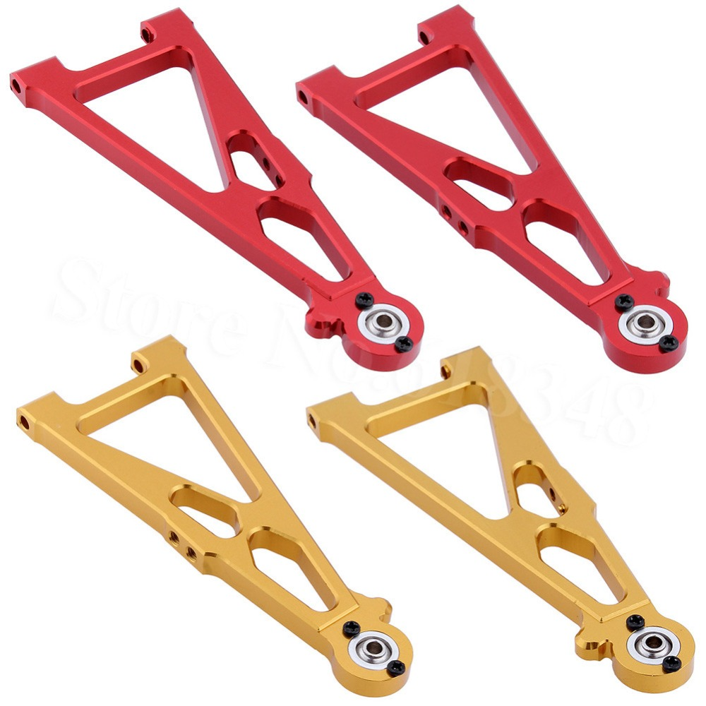 Aluminum Front Lower Suspension Arm (L/R) For RC 1/10 E10 Electric Himoto E10XT E10XTL Katana Truggy Upgrade Parts 33602G 31603