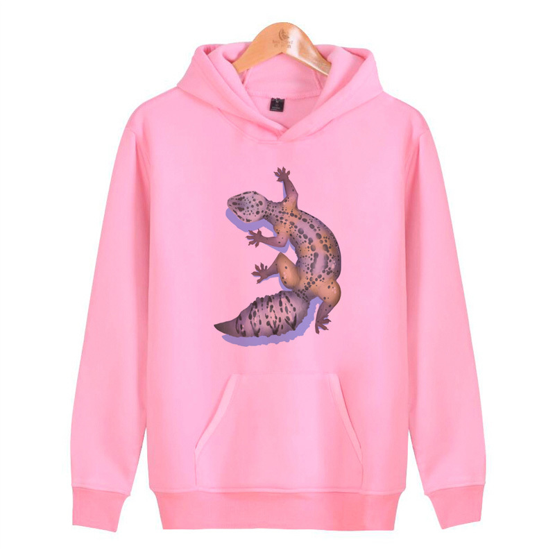 Snake Skin Mens Hoodie Lizard and Gecko Symbol
