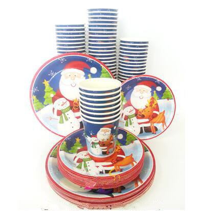 Thanksgiving paper cup Christmas supplies American invitation card and nowman santa claus party disposable paper plates set -in Christmas from Home u0026 Garden ...  sc 1 st  AliExpress.com & Thanksgiving paper cup Christmas supplies American invitation card ...
