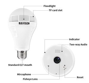 Image 2 - DAYTECH WiFi IP Camera Wireless HD 960P/1080P Camera Home Security Baby Room 360 degree Panoramic Angle Lamp Light Two way Audio