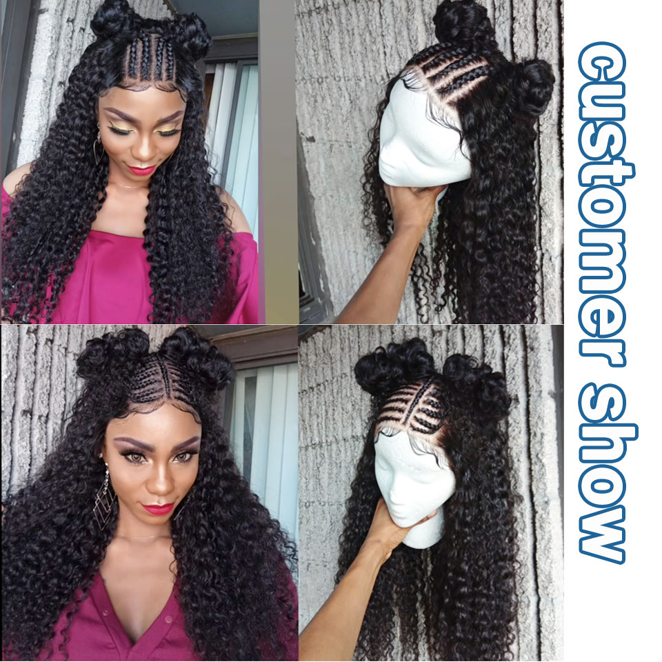 lanqi hair mongolian kinky curly bundles with closure human hair bundles with closure deep curly brazilian hair weave bundles with closure