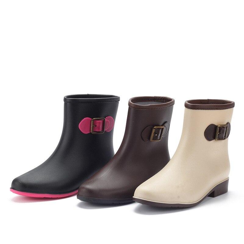 fafc77006302be ... Femmes Cheville Bottes Femme Bottes De Pluie Dames Bottes Chaussures  Sabots En Caoutchouc Dames Jardin