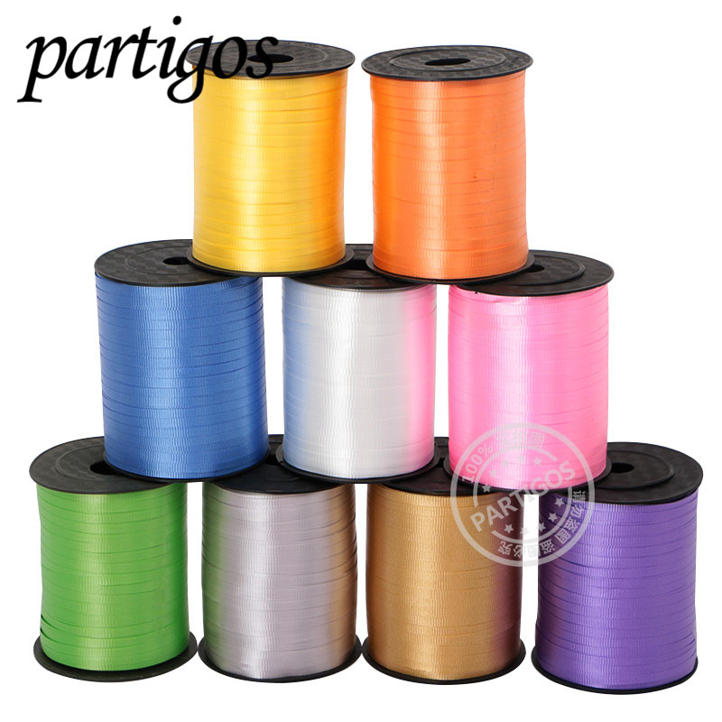1pc 500 Yards Foil Balloons Colorful Ribbon Roll Wedding Birthday Event Festive Party DIY Decoration Supplies Accessories