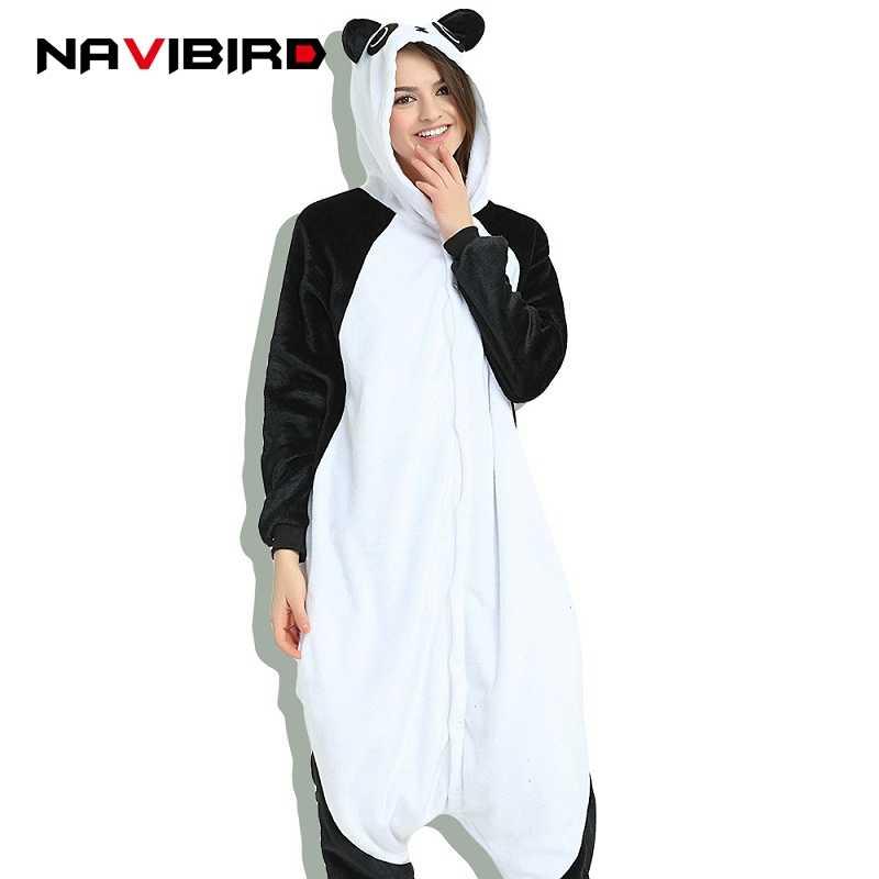 c9714f68ba Winter Kungfu Panda Kigurumi Women Cute Animal Hooded Onesie Men Adult  Pijama Onepiece Pyjama Home Sleepwear