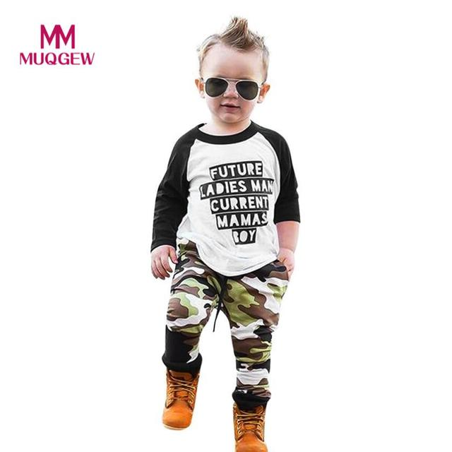 5aa6ccaadc39 Fashion Cool Toddler Infant Baby Boys Letter Printed Long Sleeve T-Shirt  Tops+Camouflage