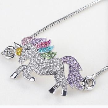 Unicorn Silver Color Alloy Pendant Chain Bracelet