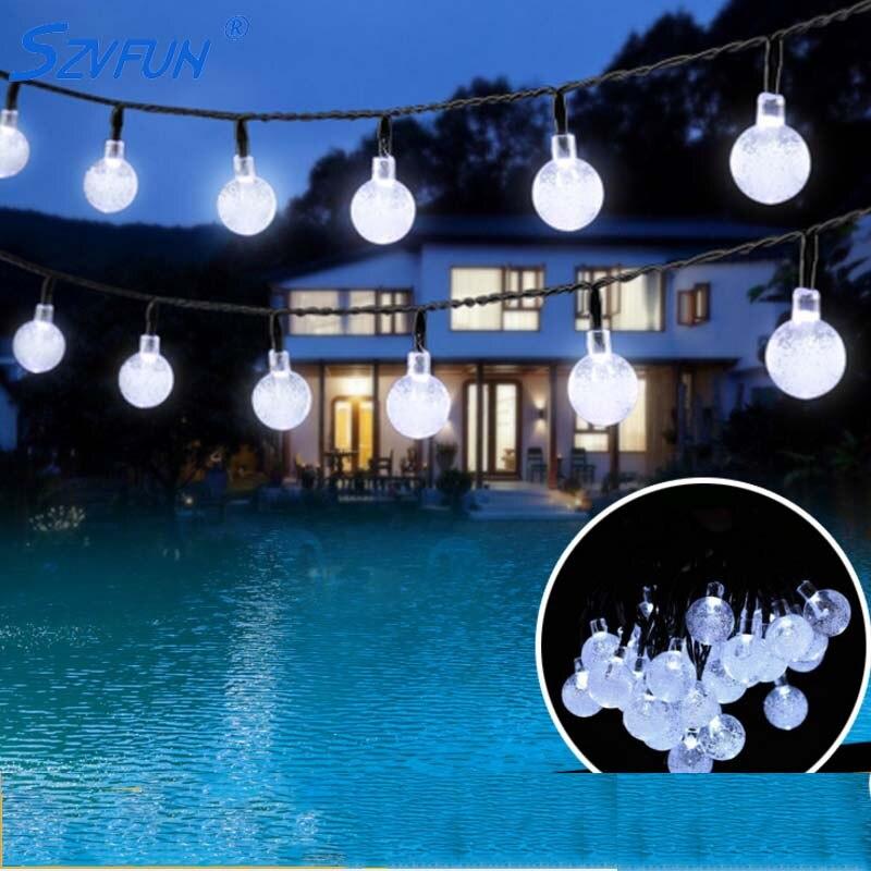 Bombilla lumière Solaire extérieur 6M 30 lampe de jardin Solaire LED étanche cristal Festoon Lumiere Solaire Exterieur pour décorations
