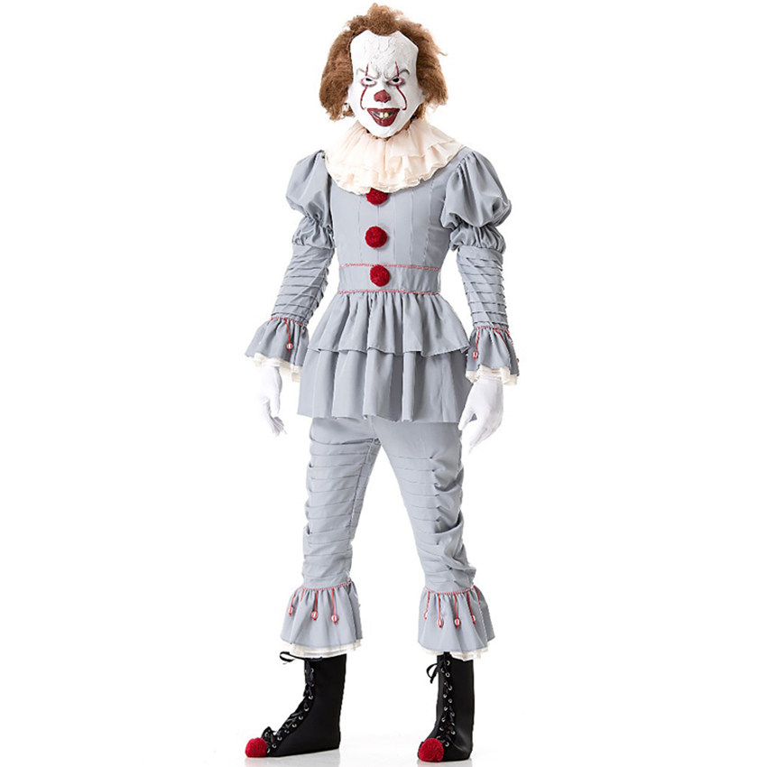 Halloween Costumes Scary Women.Us 17 85 48 Off Clowns Costume Scary Halloween Costume For Women Joker Stephen King S It Pennywise Costume Clowns Suit Fancy Party Prop Outfit In
